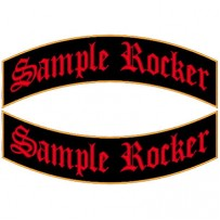 Custom Rocker patches