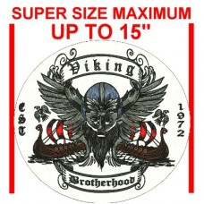 """Custom Back Patch - Super Size Maximum 15"""" ( as low as $25.00)"""