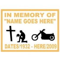 Memory Biker Cross patch
