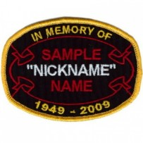 Custom Memory Ribbon Oval patch as low as $1.25