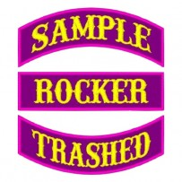 "6"" Custom Rocker Patch -as low as $2.50"