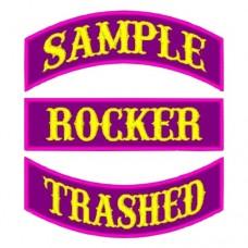 """6"""" Custom Rocker Patch -as low as $2.50"""
